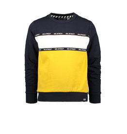 Moodstreet MT sweater with cut & sewn, Navy