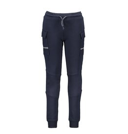 B-Nosy Boys sweat pants with pockets on side / matching different fabric, Oxford blue