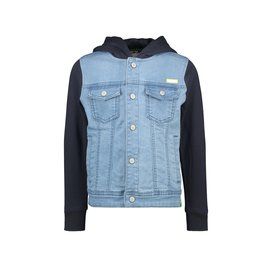 B-Nosy Boys denim jacket with sweat hood and sleeves, Free denim