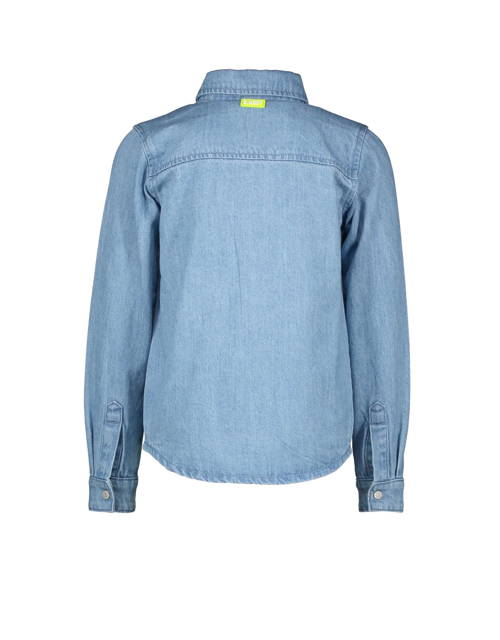 B-Nosy Boys denim blouse with press buttons, Free denim