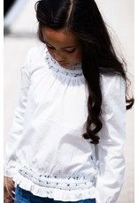 B-Nosy Girls white blouse with lace tape, Snow White