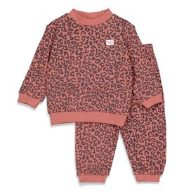 Feetje Pyjama wafel,  Terra Pink Fashion Edition