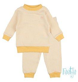 Feetje Pyjama wafel,  Okergeel