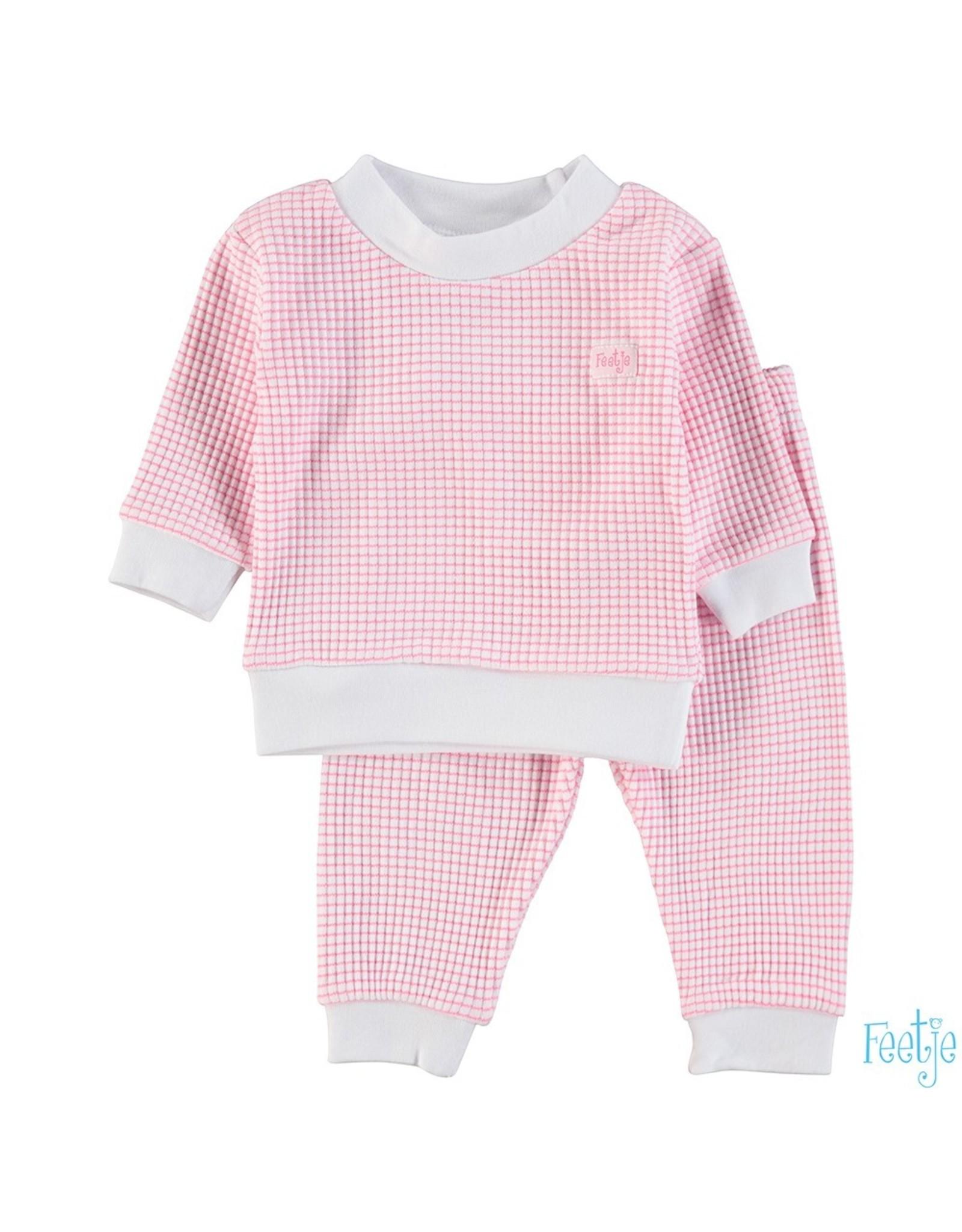 Feetje Pyjama wafel,  Roze