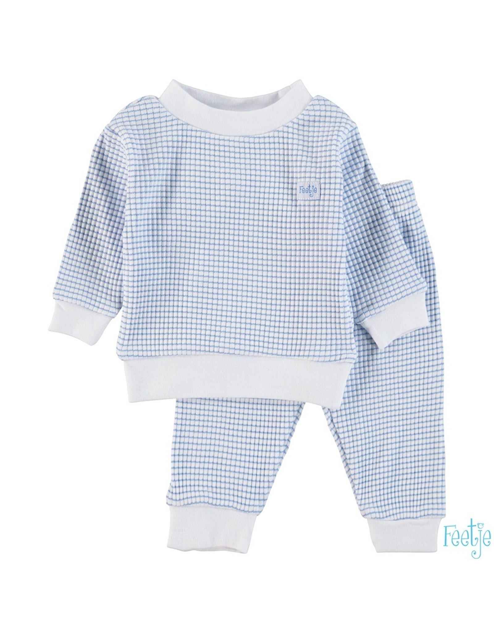 Feetje Pyjama wafel,  Blue