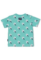 Feetje T-shirt AOP - Team Icecream. Mint melange