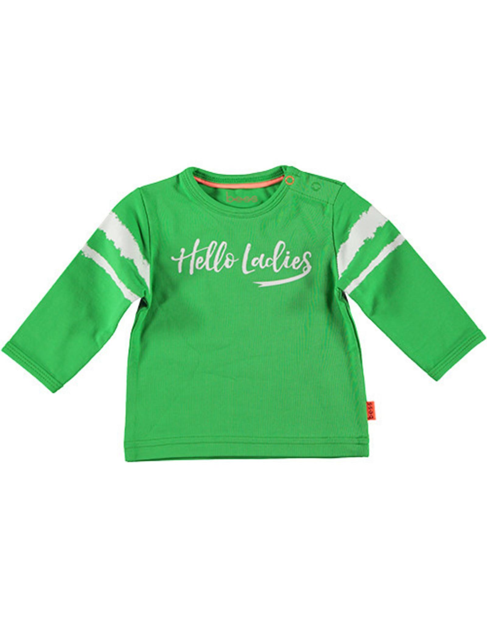 B.E.S.S. Shirt l.sl. Hello Ladies, Green