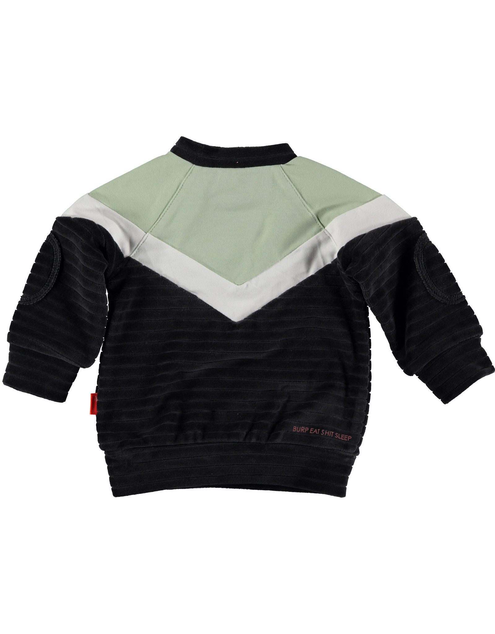 B.E.S.S. Sweater Velvet Colorblock, Anthracite
