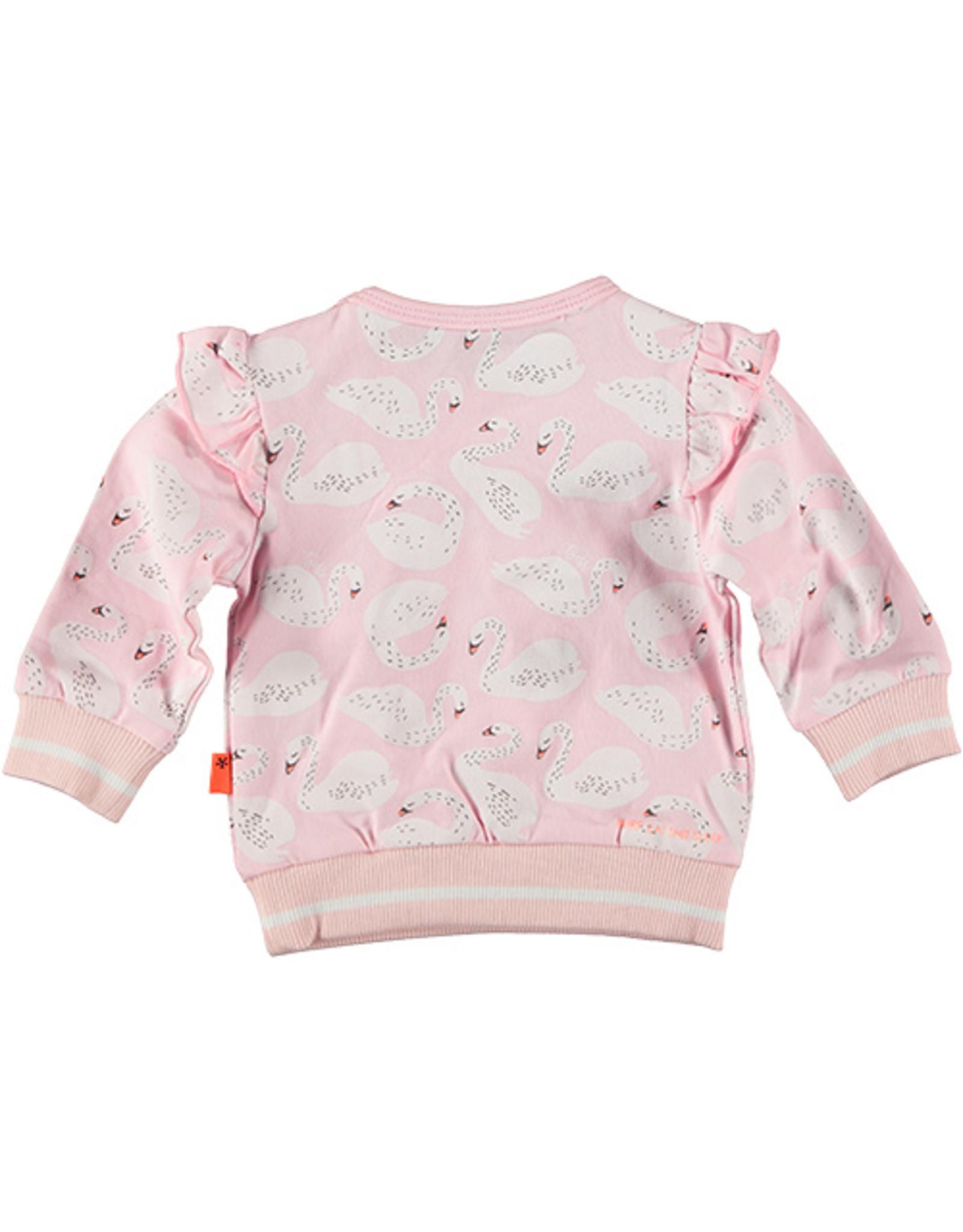 B.E.S.S. Sweater Ruffle Swan, Pink