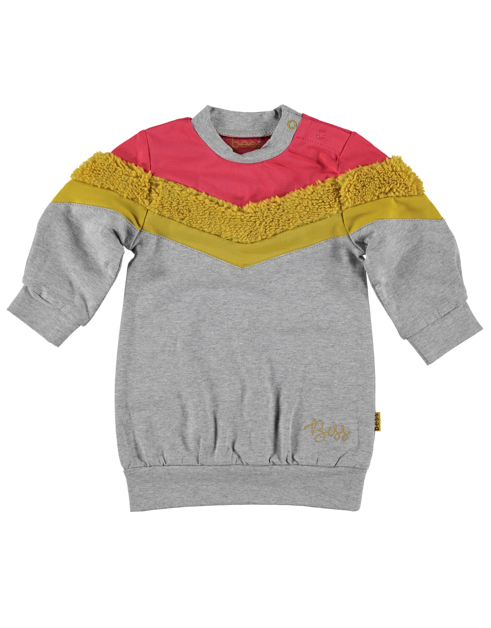 B.E.S.S. Sweatdress Colorblock, Grey