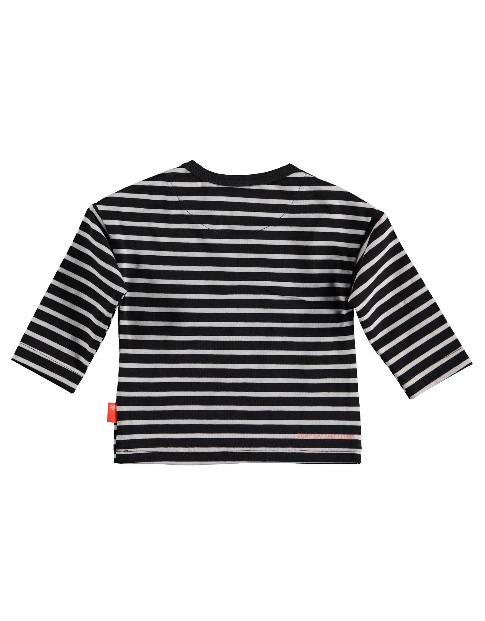 B.E.S.S. Shirt l.sl. Striped B, Anthracite