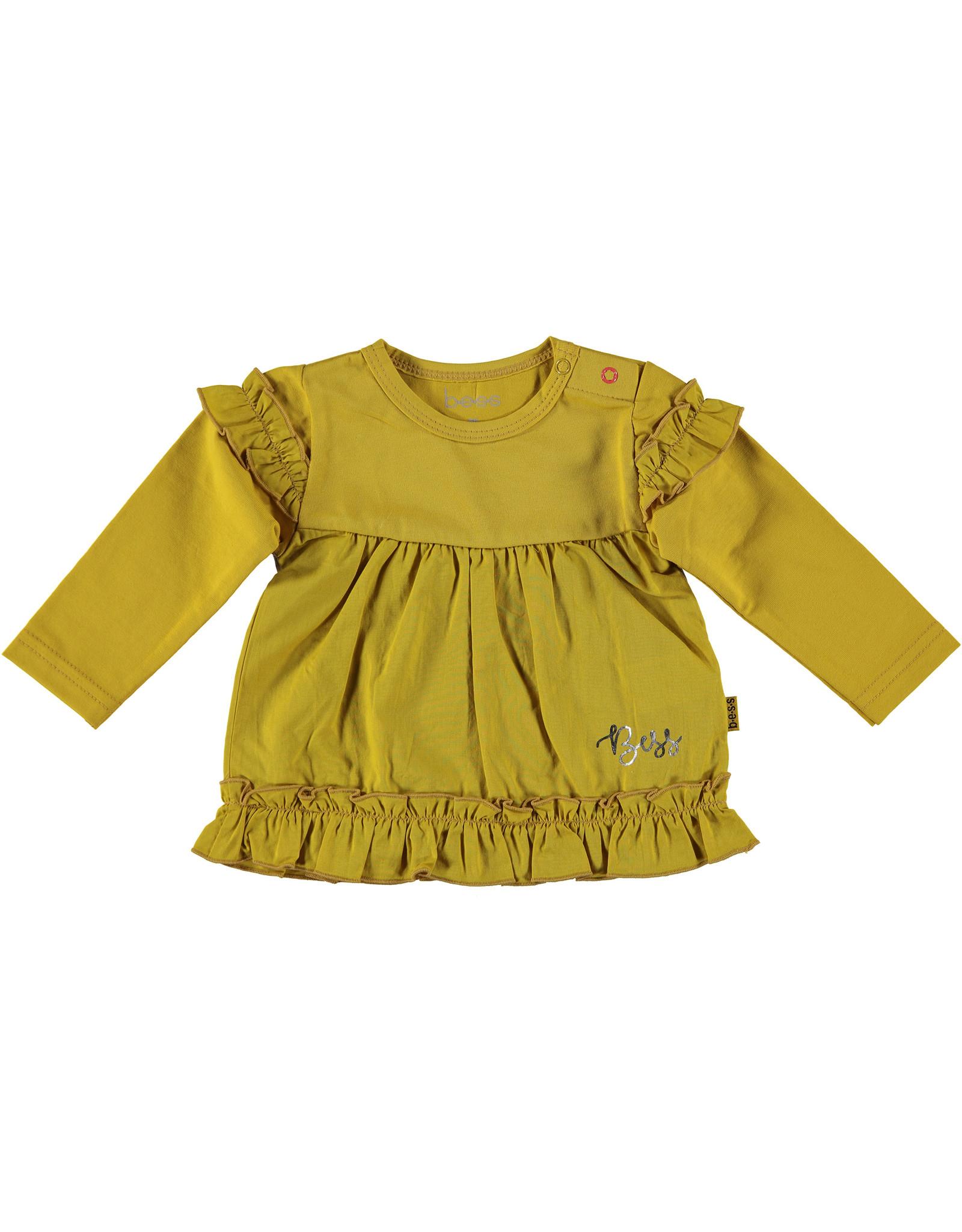B.E.S.S. Shirt l.sl. Ruffles, Ocre