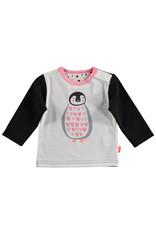 B.E.S.S. Shirt l.sl. Penguin Hearts, White