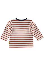B.E.S.S. Shirt Henley l.sl. Striped, White