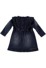 B.E.S.S. Dress Denim Striped, Stone Wash