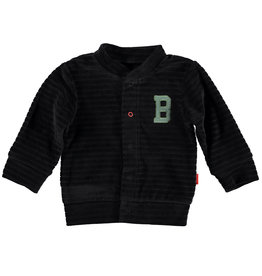B.E.S.S. Cardigan Velvet Striped, Anthracite