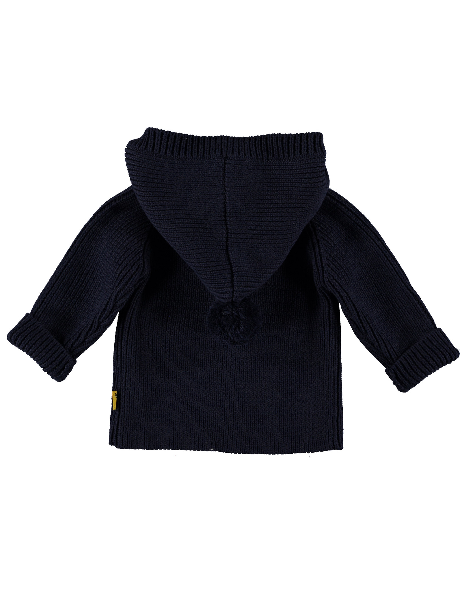 B.E.S.S. Cardigan Knitted Hood, Navy