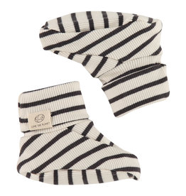 Babyface baby slippers, ebony
