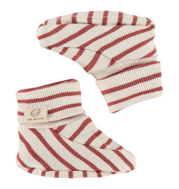 Babyface baby slippers, indian red