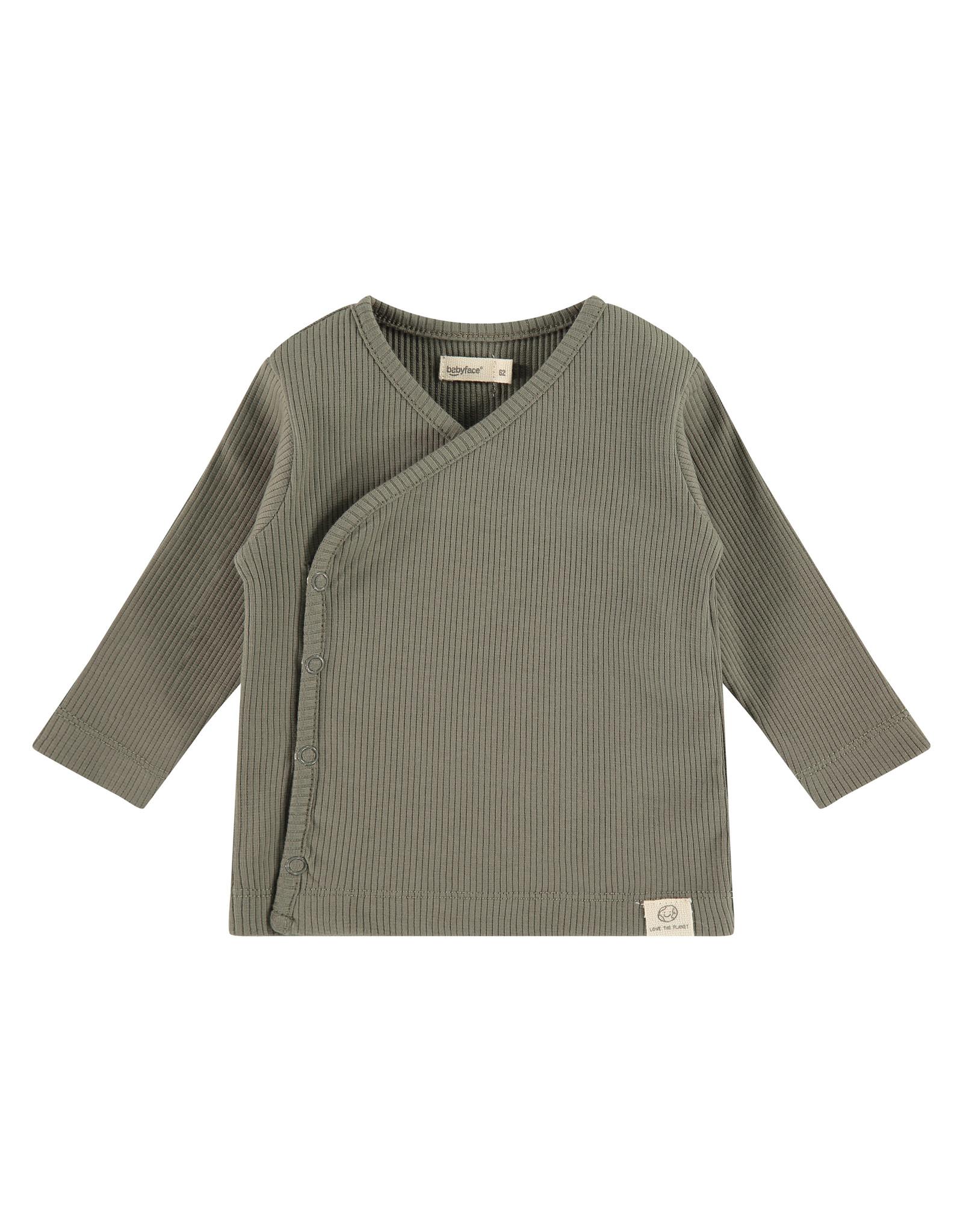 Babyface baby t-shirt long sleeve, olive green