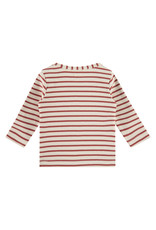 Babyface baby t-shirt long sleeve, indian red