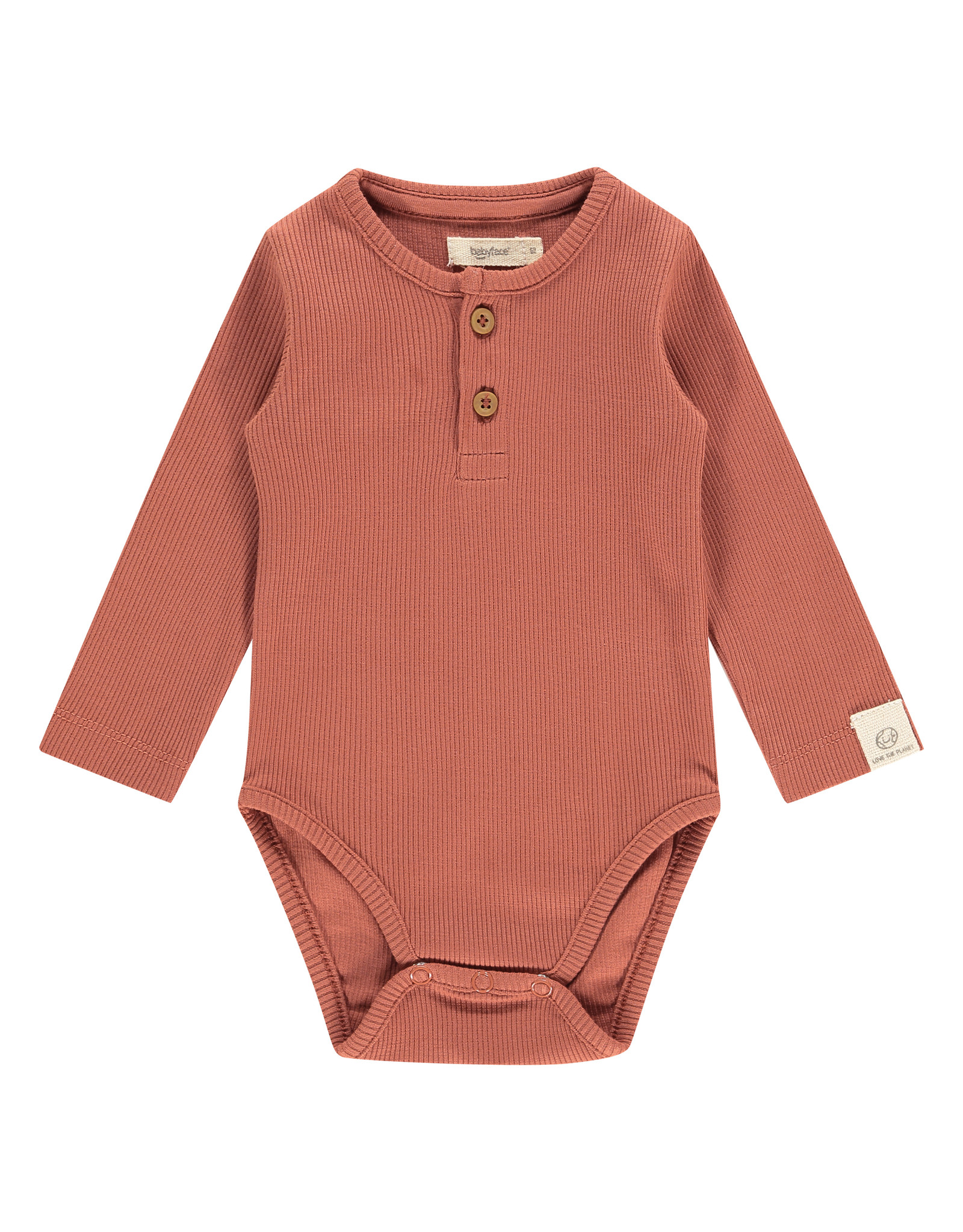 Babyface baby romper long sleeve, indian red