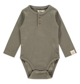 Babyface baby romper long sleeve, olive green