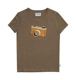 CarlijnQ Photo Camera - t-shirt with print brown