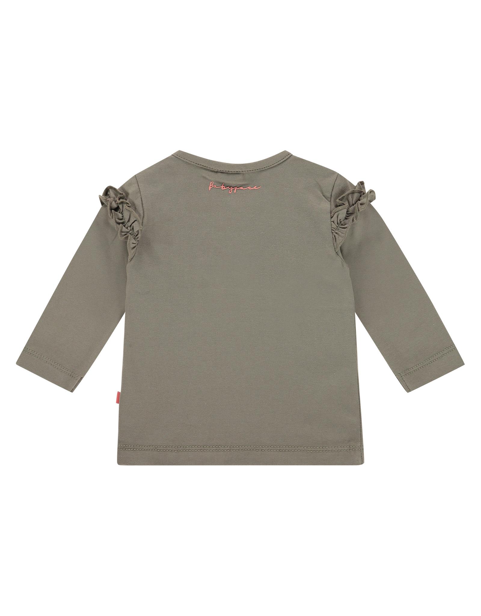 Babyface baby girls t-shirt long sleeve, moss