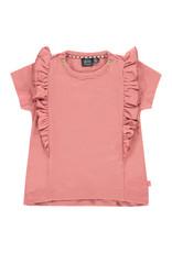 Babyface baby girls t-shirt short sleeve, rusty pink