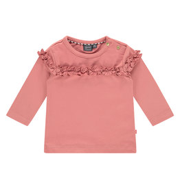 Babyface baby girls t-shirt long sleeve, rusty pink