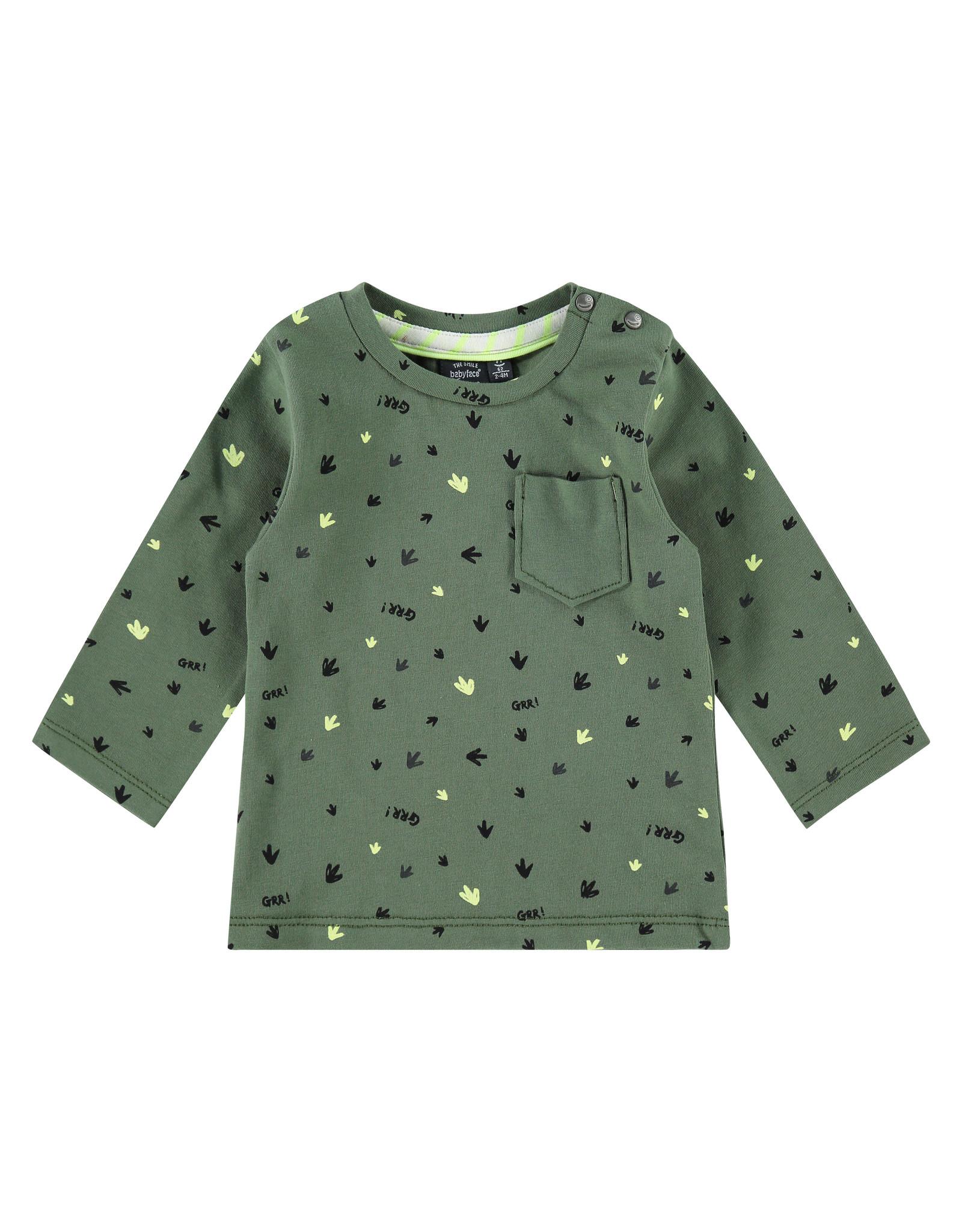 Babyface baby boys t-shirt longsleeve, army