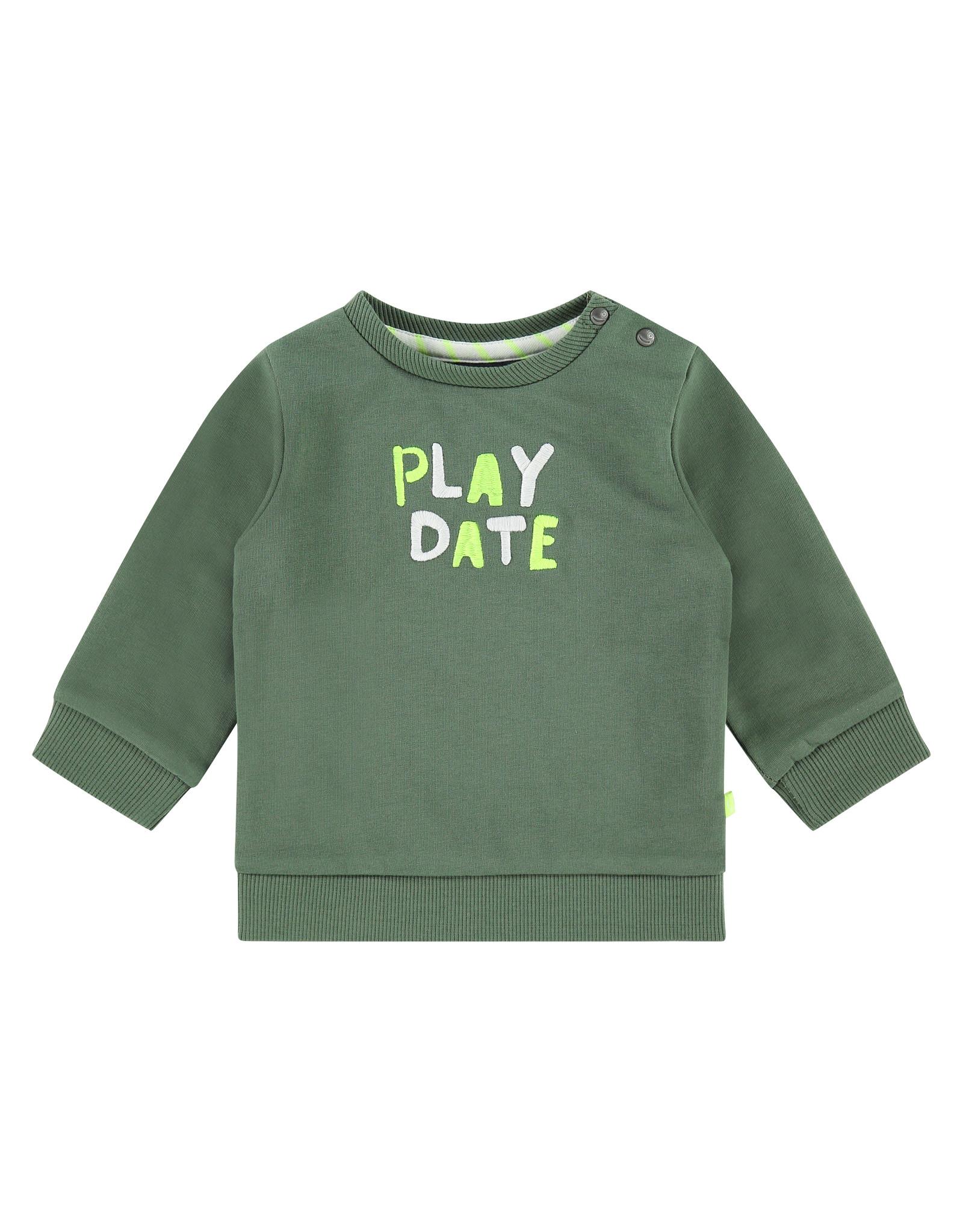Babyface baby boys sweatshirt, army