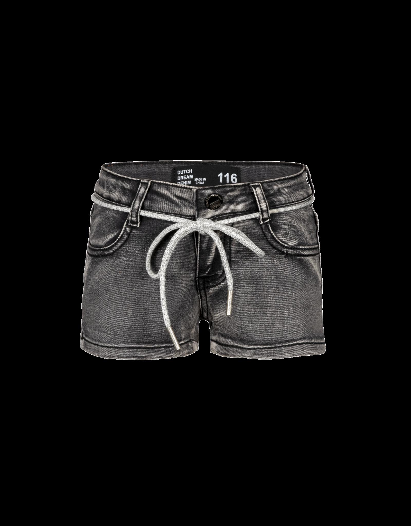 Dutch dream denim KOO, Power stretch denim shorts grey