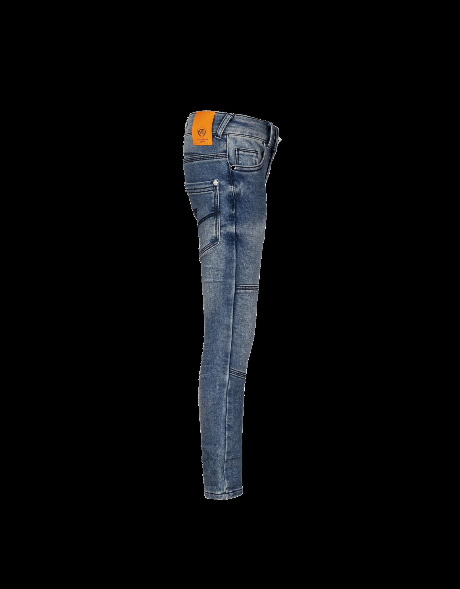 Dutch dream denim ZILE, EXTRA SLIM FIT Jogg jeans met dubbele laag stof op de knieën