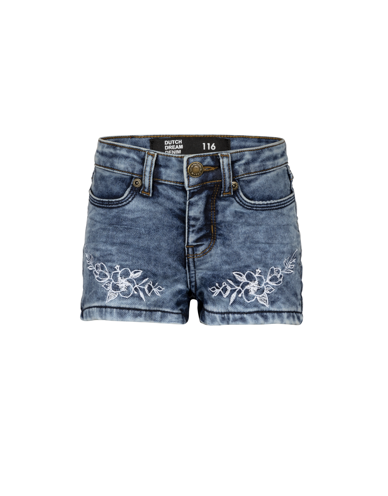 Dutch dream denim NJIA, Jogg jeans shorts met met borduursel