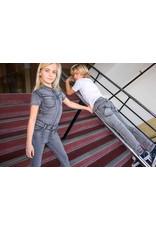 Dutch dream denim MADINI, Jogg jeans jumpsuit met korte mouwen Grey