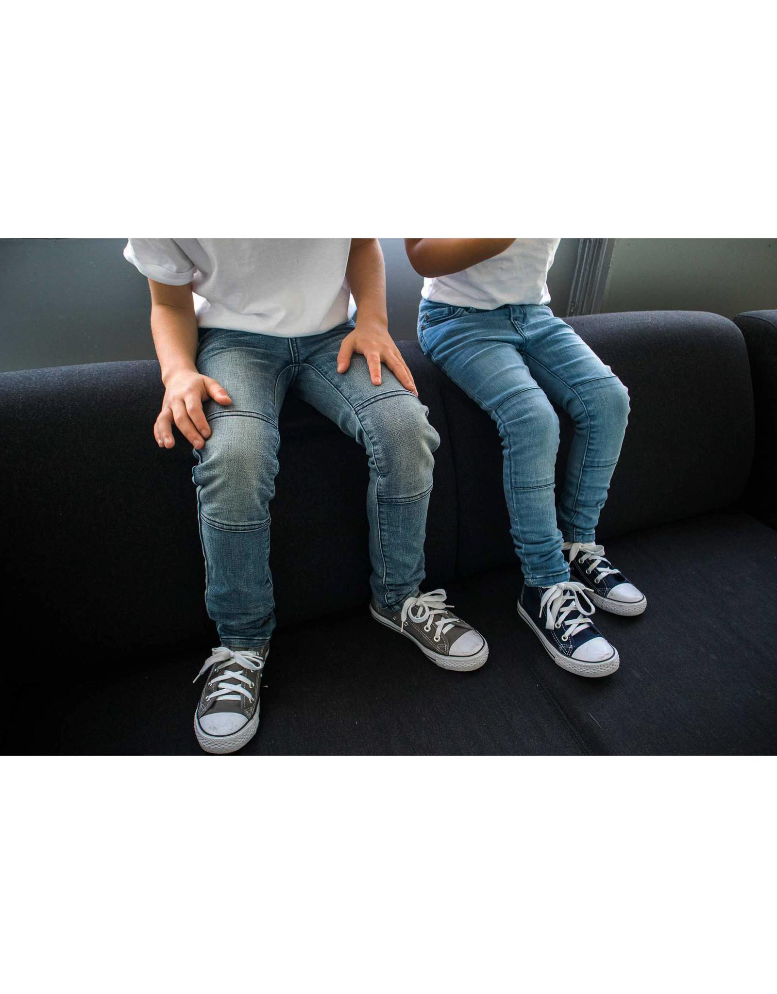 Dutch dream denim FIGO, EXTRA SLIM FIT Jogg jeans met dubbele laag stof op de knieën
