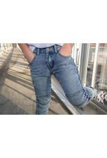 Dutch dream denim PENYA, EXTRA SLIM FIT Jogg jeans met dubbele laag stof op de knieën