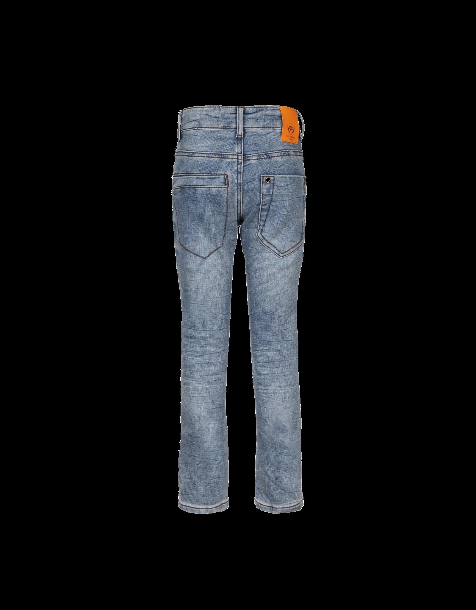 Dutch dream denim PELEKA, SLIM FIT jogg jeans  met dubbele laag stof op de knieën