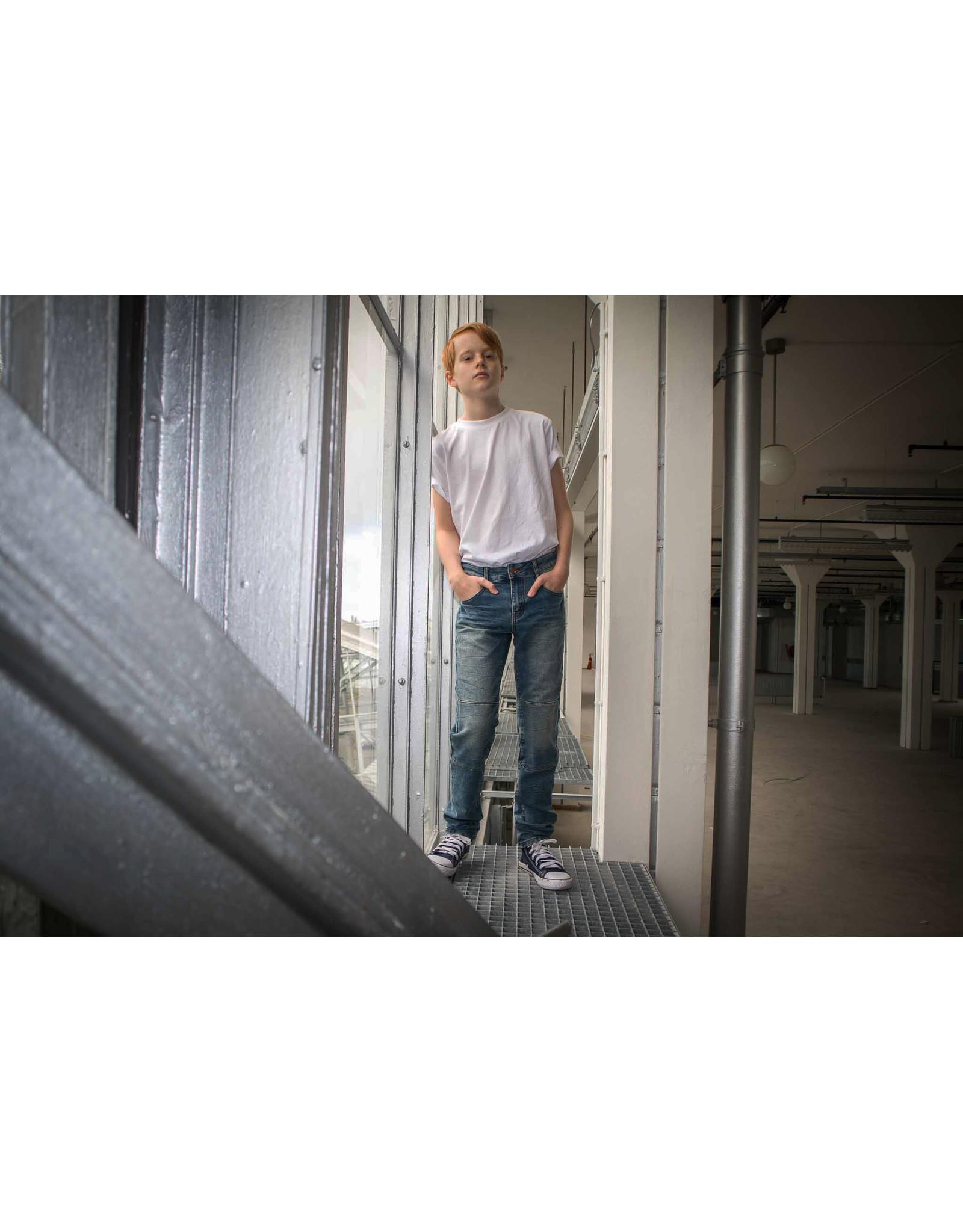 Dutch dream denim UMBILE, EXTRA SLIM FIT Jogg jeans met dubbele laag stof op de knieën