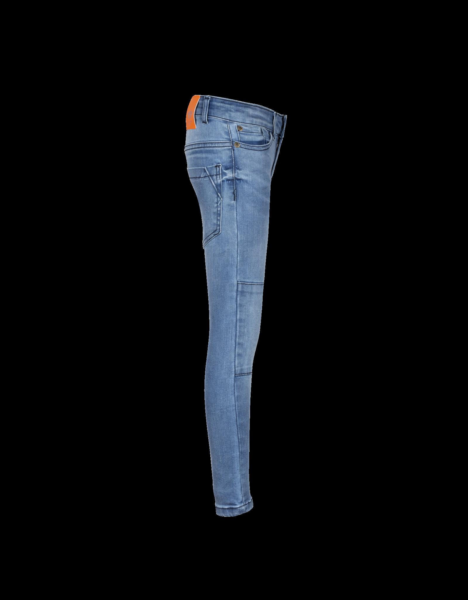 Dutch dream denim MWEZI, Power stretch SKINNY jeans  met dubbele laag stof op de knieën light blue