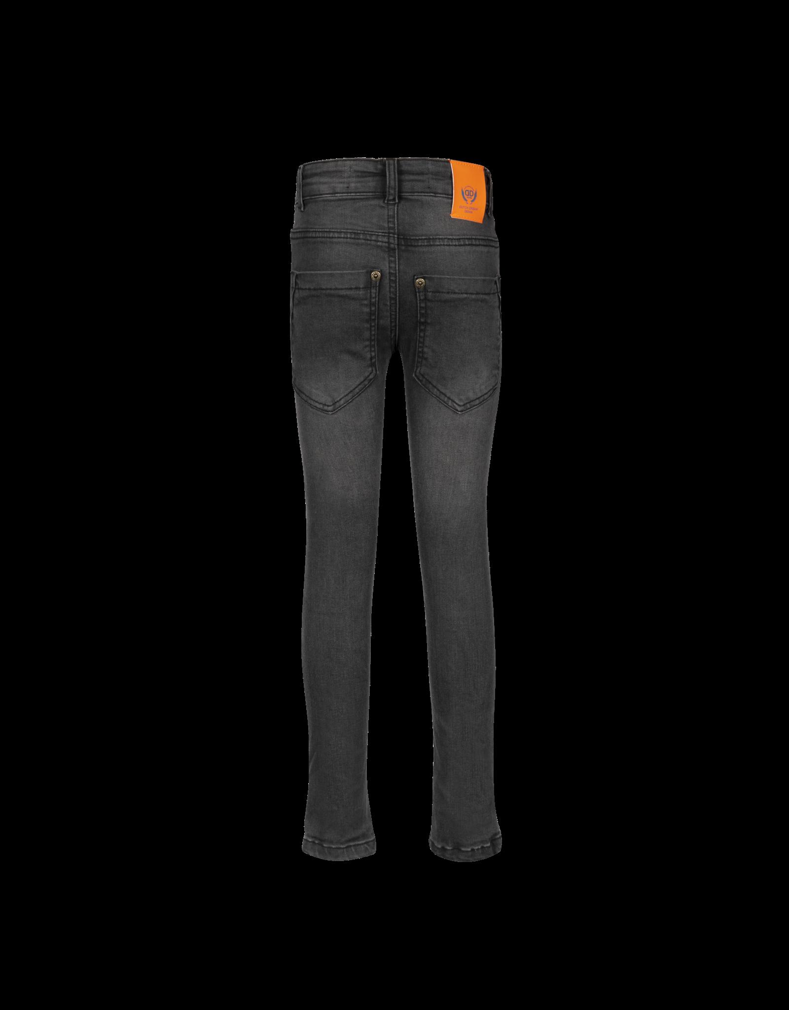 Dutch dream denim MWEZI, Power stretch SKINNY jeans  met dubbele laag stof op de knieën grey