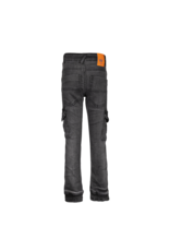Dutch dream denim FIKIRI, SLIM FIT power stretch cargo jeans met dubbele laag stof op de knieën