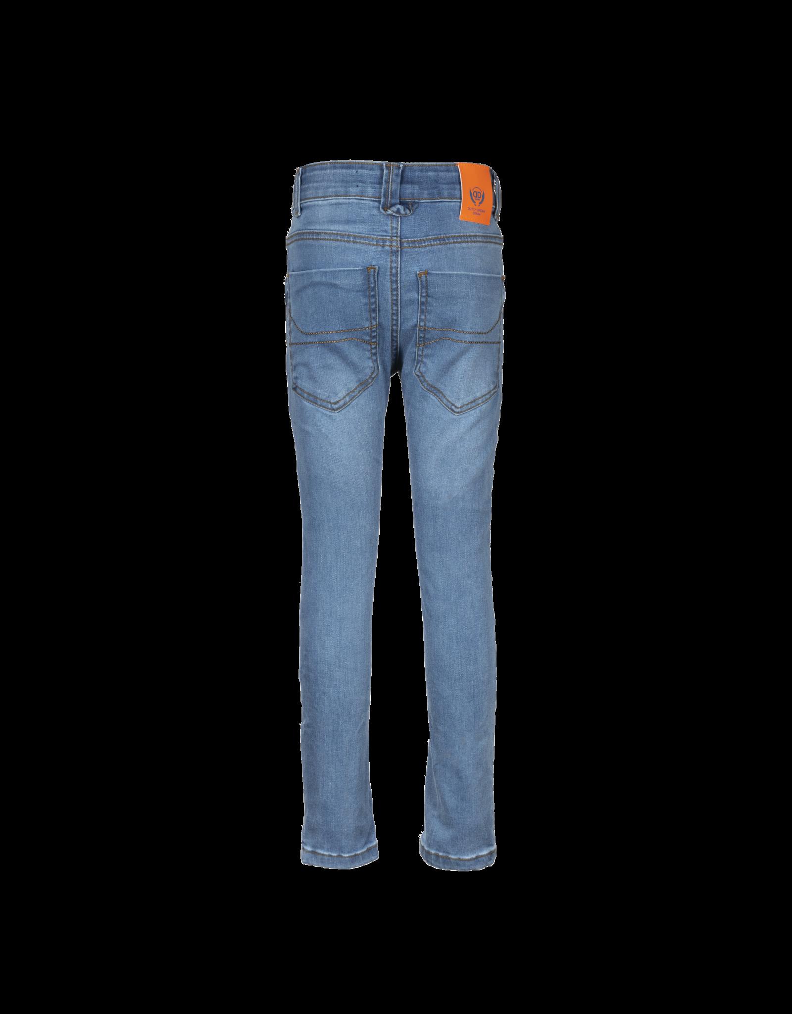 Dutch dream denim ZAMANI, EXTRA SLIM FIT power stretch jeans met dubbele laag stof op de knieën  blue