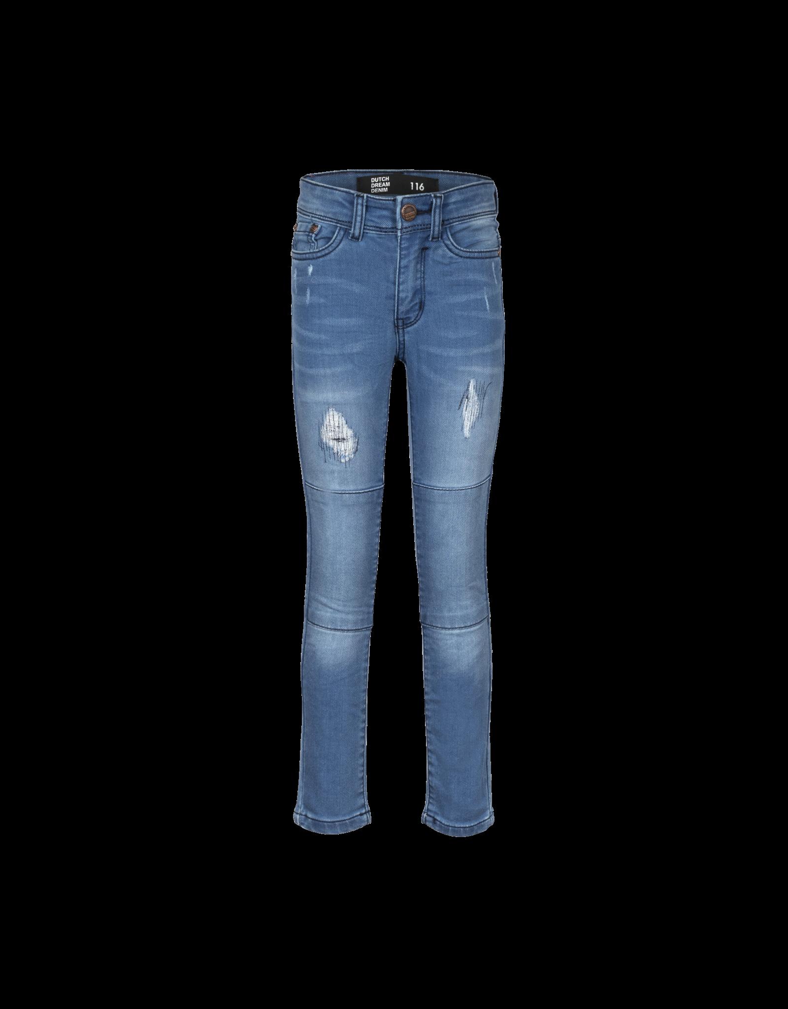 Dutch dream denim NINI, EXTRA SLIM FIT Jogg jeans met dubbele laag stof op de knieën blue