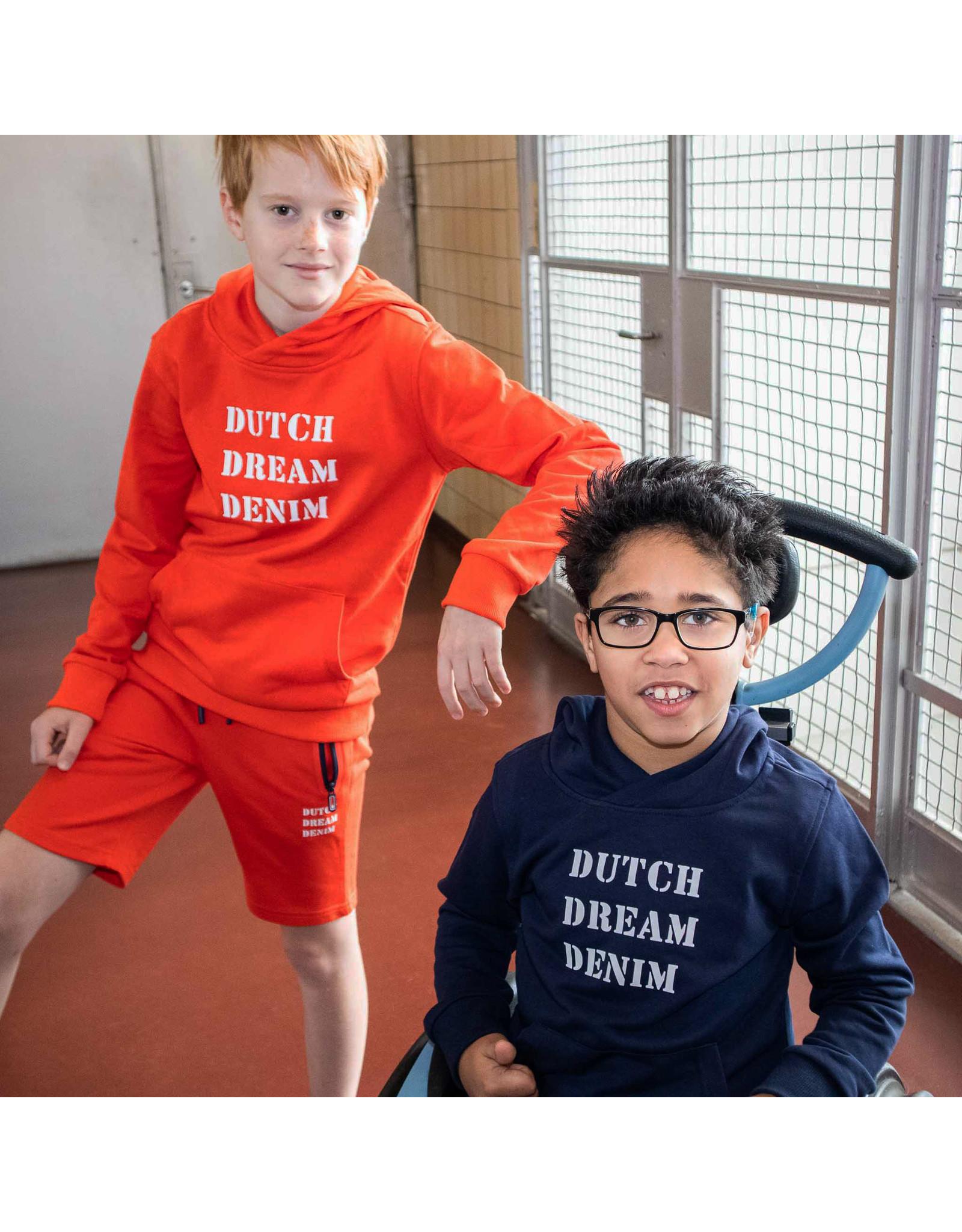 Dutch dream denim REDIO, Hoodie met een logo print orange
