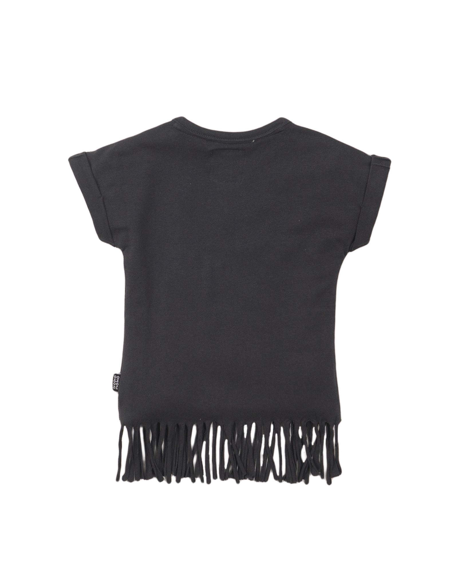 Koko Noko T-shirt shsl, Dark grey, SS21