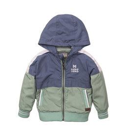 Koko Noko Jacket, Mid blue + faded green, SS21
