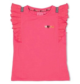 Jubel T-shirt - Whoopsie Daisy. Fuchsia